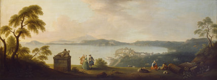 A VIEW OF THE BAY OF POZZUOLI WITH BAIA AND ISCHIA BEYOND, by Gabriele Ricciardelli (fl. 1745-85)