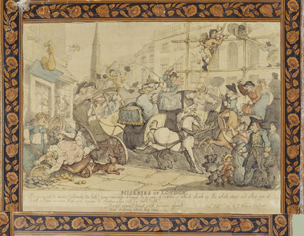 THE MISERIES OF LONDON by Rowlandson, 1807