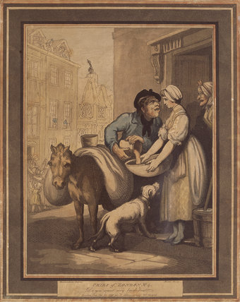 CRIES OF LONDON, NO.4, by Rowlandson (