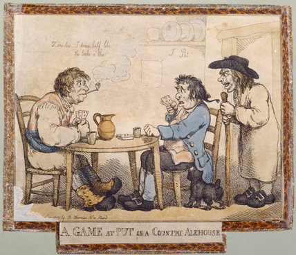 A GAME AT PUT IN A COUNTRY ALEHOUSE by Woodward and Rowlandson, 1799