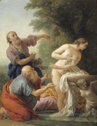 SUSANNAH AND THE ELDERS by L.J.F. Lagrenee (1725-1805)