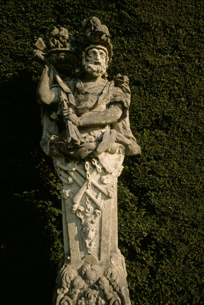 Close-up of statue at end of Canal Terrace at Bodnant Garden