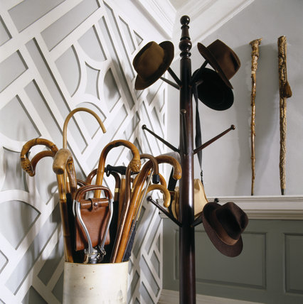View of Hats and walking sticks in the Entrance Hall at Florence Court