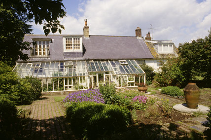 View across garden to Monk's House with conservatory added in 1940s