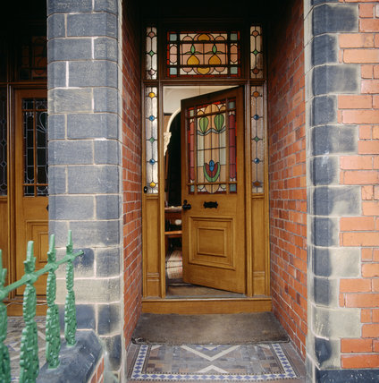 View of Mr Straw's House front door