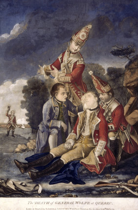 THE DEATH OF GENERAL WOLFE AT QUEBEC, 1779, after Edward Penny's version painted in 1764