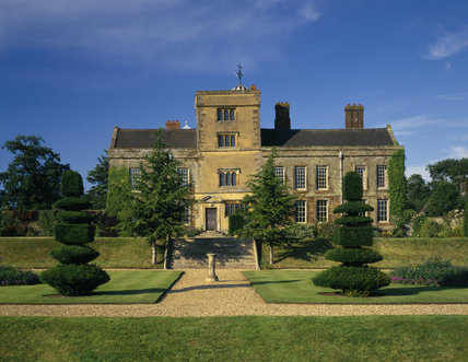 A view of the south front of Canons Ashby from the Sunken Garden