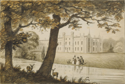 SHEFFIELD PARK, English 18th-century watercolour by an unknown artist