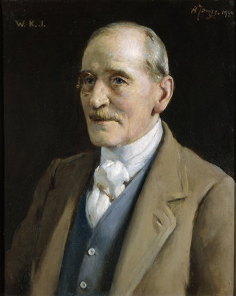 Portrait of Sir Walter Jenner, wearing a monocle