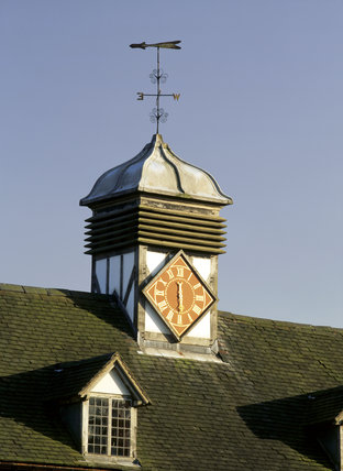 A view of the single-handed turret clock at Baddesley clinton