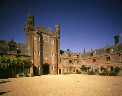 The Gatehouse from within the internal Courtyard at Oxburgh Hall