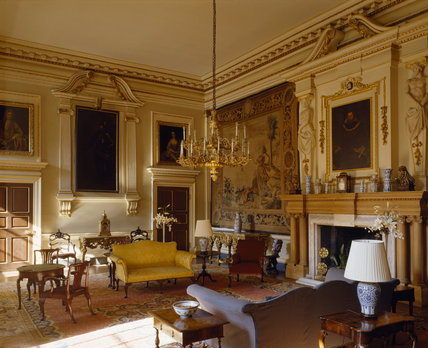 The Entrance Hall at Lyme Park, looking toward the corner