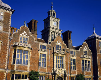 South front of Blickling Hall showing the Clock Tower