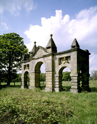 The Arches, which formed the original triumphal approach to the house until replaced by the Clock Tower in 1754 and moved its present position