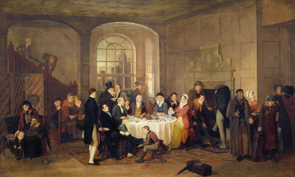 THE TRAVELLERS BREAKFAST by Edward Villiers Rippingille, 1824 There are various famous figures of the day, such as William and Dorothy Wordsworth and Samuel Taylor Coleridge