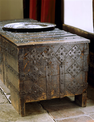 Side of Westfalian chest in the Great Hall at Stoneacre
