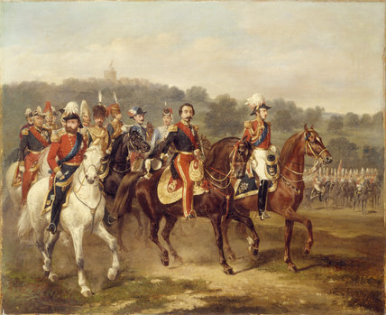 PRINCE CONSORT WITH LOUIS NAPOLEON by A. F. de Prade.