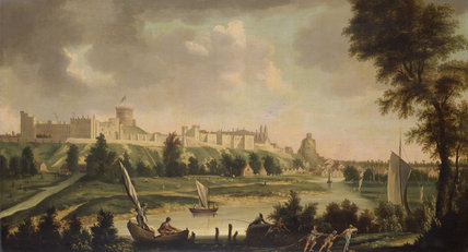 WINDSOR CASTLE by William Marlow {1740 - 1813)