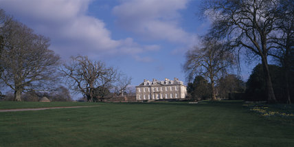 View of the northern face of Antony House in spring