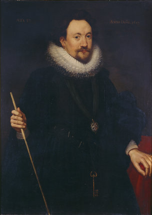 WILLIAM HERBERT, THIRD EARL OF PEMBROKE, by Abraham van Blyenbech, signed and dated 1617