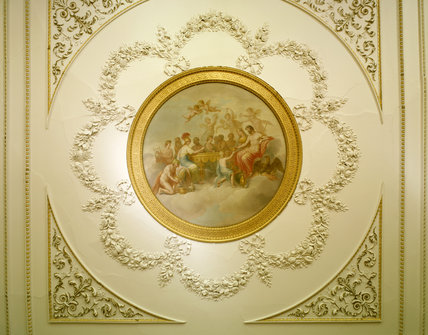 The central painting on the ceiling of the Dining Room
