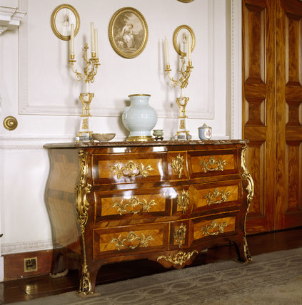 A Regence or early Louis XV Commode in the Drawing Room