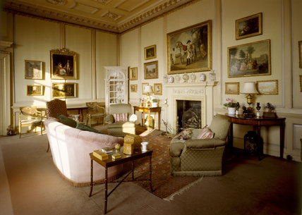 The Ante Room, looking from the Entrance Hall door towards the fireplace