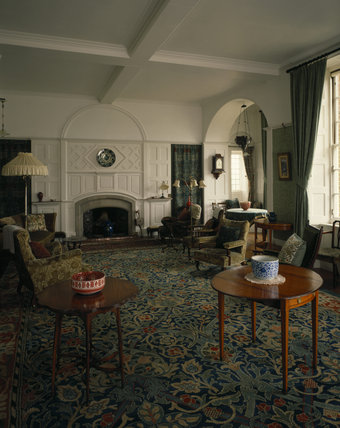 The Victorian Drawing Room At Standen With Morris Carpet And