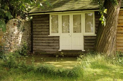 Virginia Woolf's writing-shed in sunshine