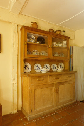 View of the Whitewood Dresser in the Kitchen of Monk's House, the former home of Leonard and Virginia Woolf