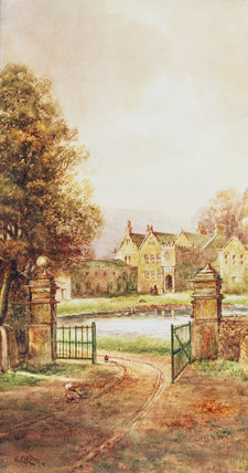 EXTERIOR OF EAST RIDDLESTON HALL by E. Riley c.1920.