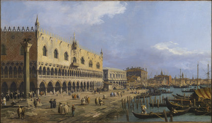 THE DOGES PALACE AND RIVA DELLA SCHIAVONI, VENICE, 1731 by Canaletto at Tatton Park, 23