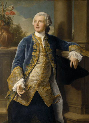 SIR GEORGE LUCY by Pompeo Batoni (1708-1787) from Charlecote Park