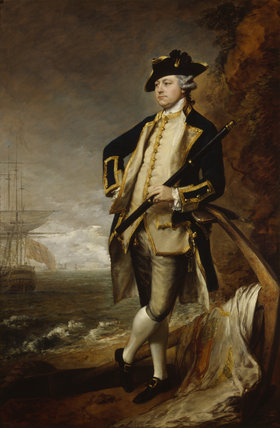 AUGUSTUS JOHN HERVEY, VICE-ADMIRAL OF THE BLUE later 3rd Earl of Bristol, 1727 by Gainsborough (1727-88