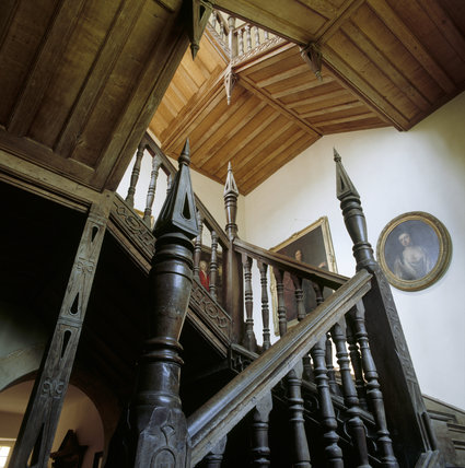 The east staircase at Chastleton House