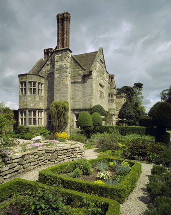 A view of Benthall Hall from the Pixy Garden