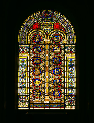 The Stained Glass in the Grand Hall at Penrhyn supplied in 1835-6 by Thomas Willement
