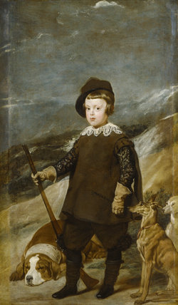 PRINCE BALTHASAR CARLOS (1629-1646) AS A HUNTER by Velazquez (1599-1660) from Ickworth