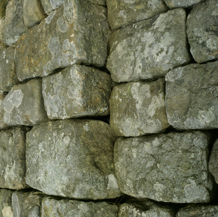 A portion of Hadrian's Wall, showing a junction in the construction, where different gangs have been at work
