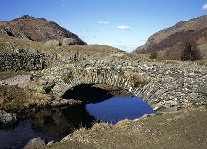 The rough stone bridge at Watendlath, high up on the east flank of Borrowdale