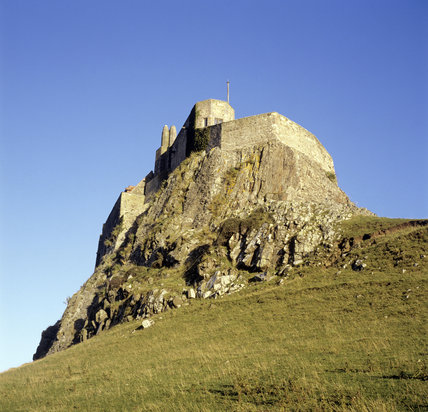 View of Lindisfarne Castle looking from the north west