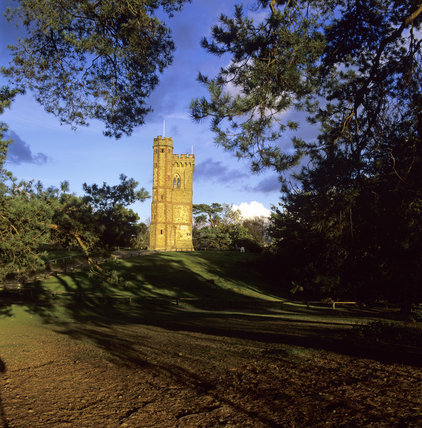 Leith Hill Tower in Surrey, an 18th-century Gothic tower that stands at the highest point in south-east England
