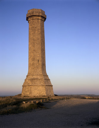 The Hardy Monument in Dorset, erected in 1844 in memory of Vice-Admiral Sir Thomas Masterman Hardy, Flag-Captain of HMS Victory at the Battle of Trafalgar