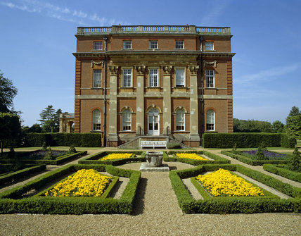 The South Front of Clandon Park in Surrey with parterre in the foreground