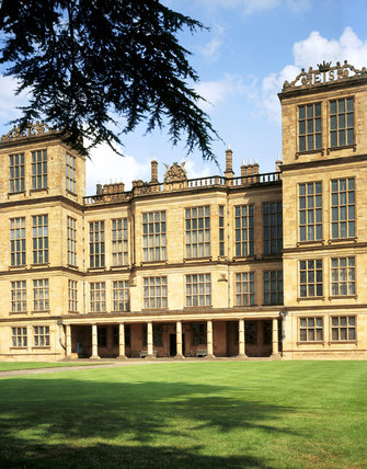 The exterior of Hardwick Hall in Derbyshire