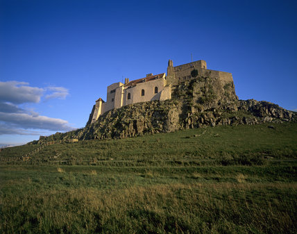 View looking up at Lindisfarne Castle