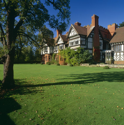 Exterior view of Wightwick Manor, West Midlands