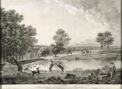Lithograph of the Deer Park at Lyme c. 1750