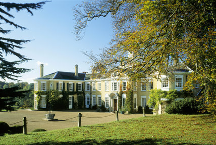 A view of the exterior of Polesden Lacey, Surrey