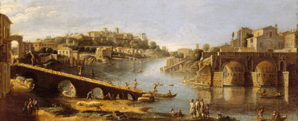 Painting of PONTE ROTTO by Vanvitelli at Saltram